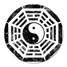 Dharma Yin Yang Round Car Magnet
