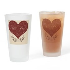 feedthebirds heart ornament Drinking Glass