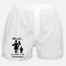 relax mom is entomologist_black Boxer Shorts