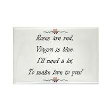 Viagra Valentine Rectangle Magnet
