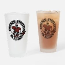 Samoan Atheletes In Action Drinking Glass