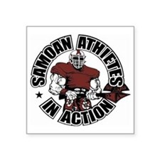 """Samoan Atheletes In Action Square Sticker 3"""" x 3"""""""