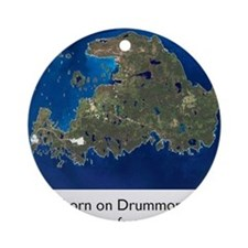 di aerial w words Round Ornament