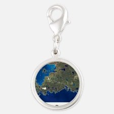 di aerial w words Silver Round Charm
