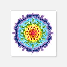 "mandalaCrownChakraShirt2 Square Sticker 3"" x 3"""
