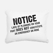 2-notmyemergency Rectangular Canvas Pillow