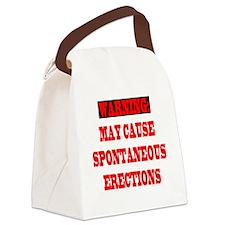 4-CAUTION.SPON.ERECT Canvas Lunch Bag