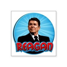 "RonaldReaganCartoon2 Square Sticker 3"" x 3"""