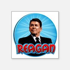 "RonaldReaganCartoon2 Square Sticker 3"" x 3"""