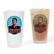 RonaldReaganCartoon2 Drinking Glass