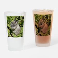 Rabbit in lettuce 1 Drinking Glass