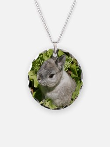 Rabbit in lettuce 1 Necklace