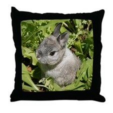 Rabbit in lettuce 1 Throw Pillow