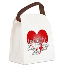 Twilight flower heart by twibaby Canvas Lunch Bag