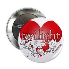 "Twilight flower heart by twibaby 2.25"" Button"