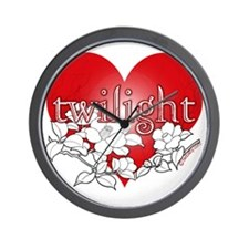 Twilight flower heart by twibaby Wall Clock