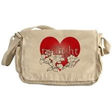 Twilight flower heart by twibaby Messenger Bag