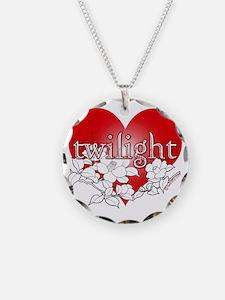 Twilight flower heart by twi Necklace