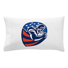 American Football Rushing Running Back Pillow Case