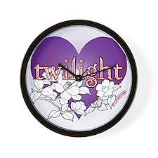 twilight violet 2 copy Wall Clock