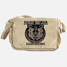 MMT Yant solid backround white black Messenger Bag