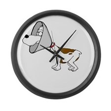 cone of shame3 White300 Large Wall Clock
