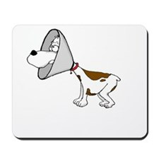 cone of shame3 White300 Mousepad