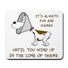 cone of shame3 300res Mousepad