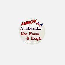 annoy a liberal Mini Button