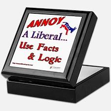 annoy a liberal Keepsake Box