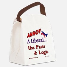 annoy a liberal Canvas Lunch Bag