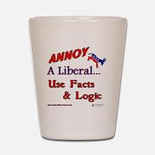 annoy a liberal Shot Glass