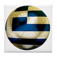 Greece Football Tile Coaster