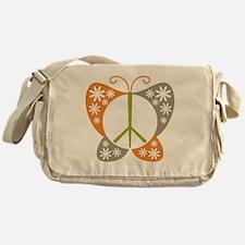 Peace Sign Butterfly Messenger Bag