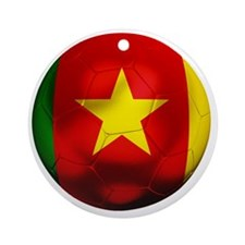 CameroonFootball Round Ornament