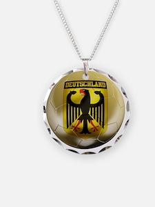 Deutschland Football1 Necklace
