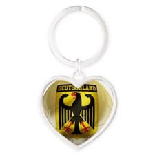 Deutschland Football1 Heart Keychain