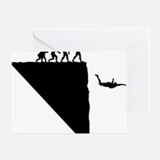 Base Jumper Greeting Card