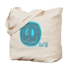 2-blue smiley Tote Bag