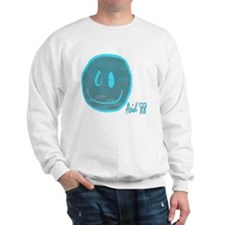 2-blue smiley Sweatshirt