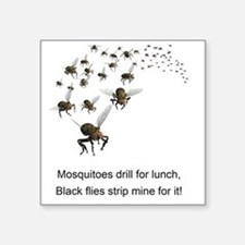 "black flies 2 Square Sticker 3"" x 3"""
