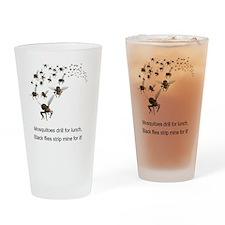 black flies 2 Drinking Glass