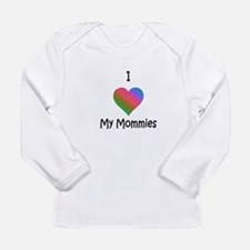 Ihearnommiesrainb copy Long Sleeve T-Shirt