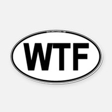wtf Oval Car Magnet