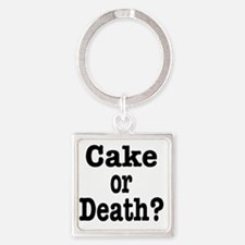 cake or death Square Keychain