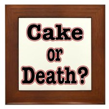 cake or death read Framed Tile