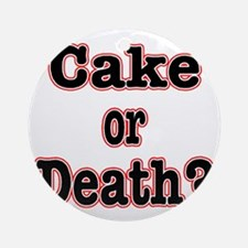 cake or death read Round Ornament