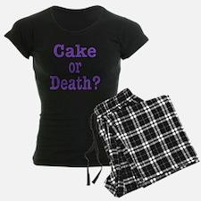 cake or death Blk purple Pajamas