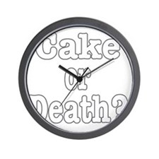 cake or death for dark Wall Clock