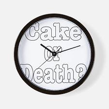 cake or death for dark Wall Clock
